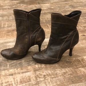Distressed look boots